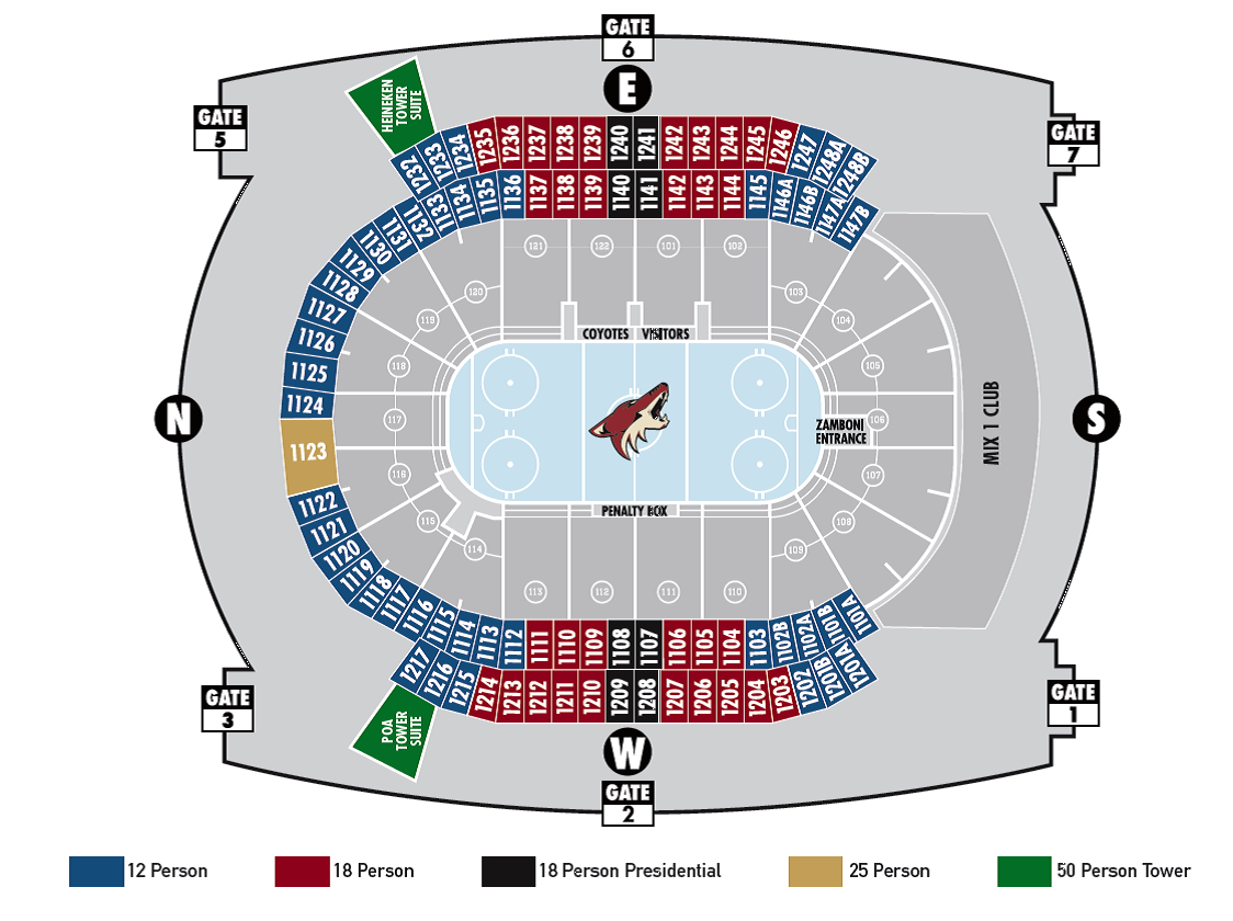Arizona coyotes seating chart gila river arena tickpick